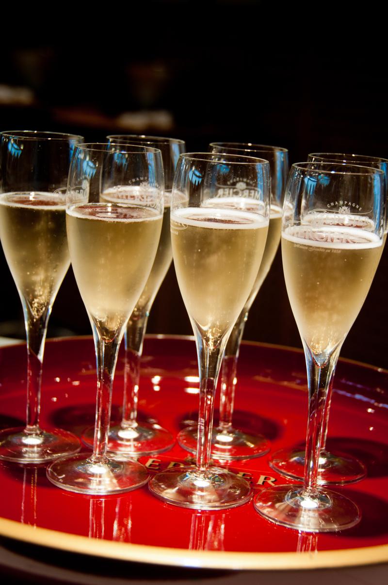 Tasting Mercier Champagne