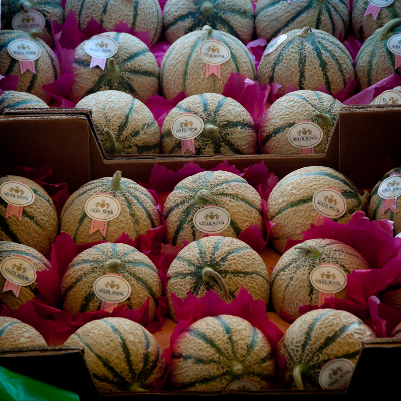 Melons at Marche Baudoyer by eatlivetravelwrite.com